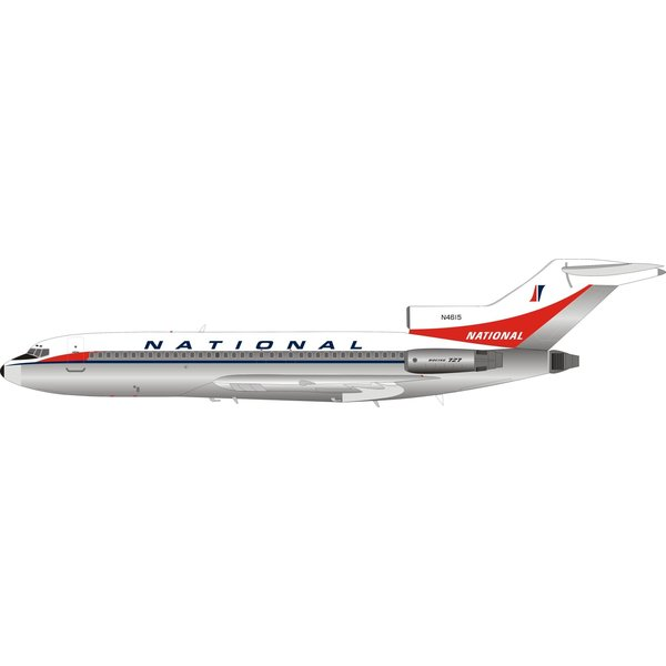 InFlight B727-100 National Airlines N4615 1:200 Polished with stand