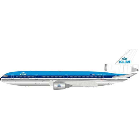 DC10-30 KLM Royal Dutch Airlines PH-DTC 1:200 with stand