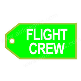 Luggage Tag Flight Crew Green