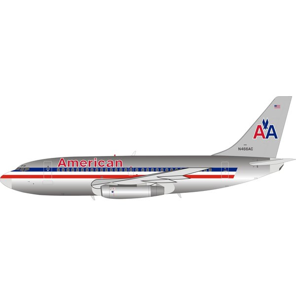 InFlight B737-200 American Airlines N466AC 1:200 polished
