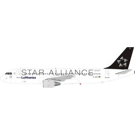 JFOX A320 Lufthansa STAR ALLIANCE D-AIPC 1:200 With Stand