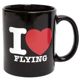 Mug I Love Flying Black