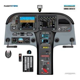 "Aviation Training Graphics Laminated Cockpit Training Poster Sr20/22 24"" X 23"""