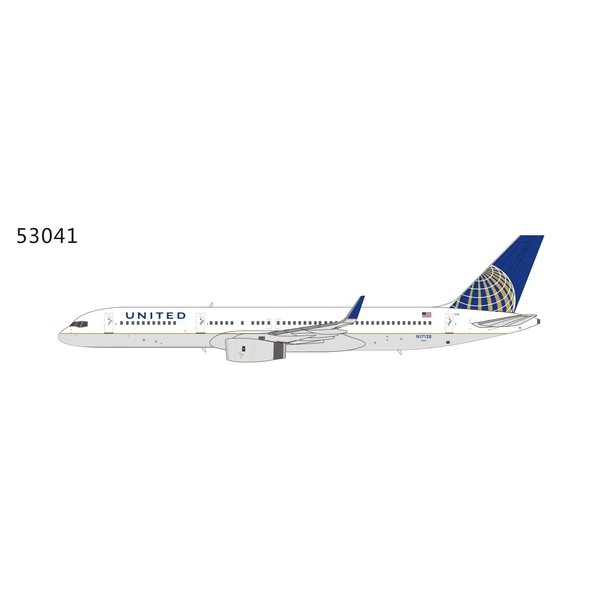 NG Models B757-200W United Airlines 2010 Livery Winglets N17128 1:400