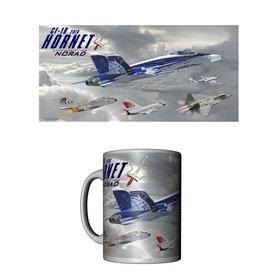 Labusch Skywear Mug Norad 60th Anniversary CF-18 Hornet Ceramic