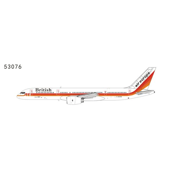 NG Models B757-200 British titles air europe livery G-BKRM 1:400