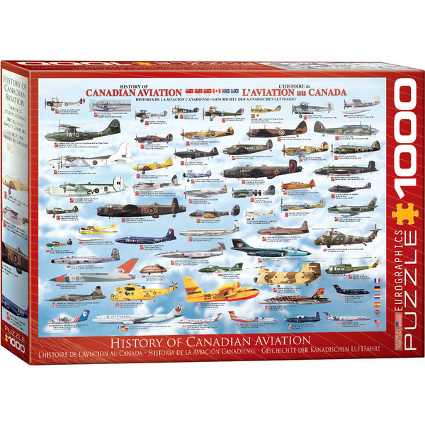Puzzle History of Canadian Aviation 1000 Pieces