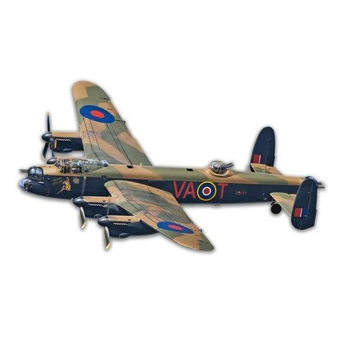 Avro Lancaster Cutout Profile Metal Sign