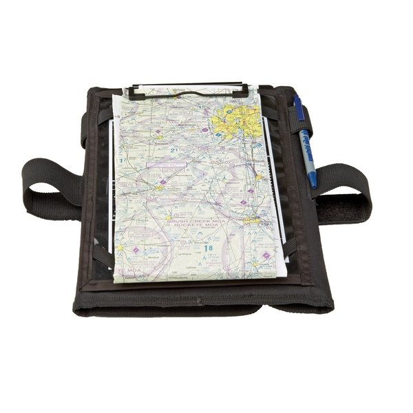 "Sporty's Kneeboard Trifold  VFR with ipad 9.7"" iPad Air or Pro Corner Straps"
