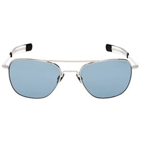 Randolph Engineering Aviator 23k White Gold Blue Hydro AR 55 Sunglasses