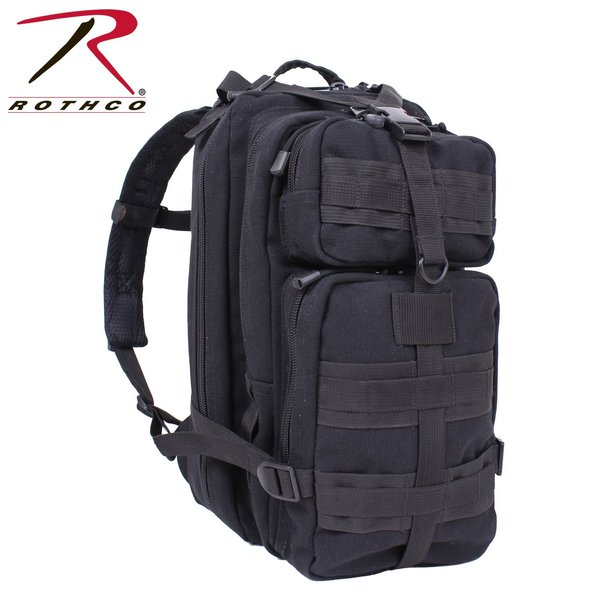 Rothco Canvas Backpack Black