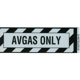 Avgas Only Sticker