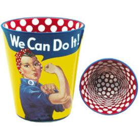 Shot Glass Rosie The Riveter We Can Do It Polka Dot