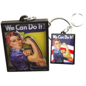 2D Key Chain Rosie The Riveter We Can Do It