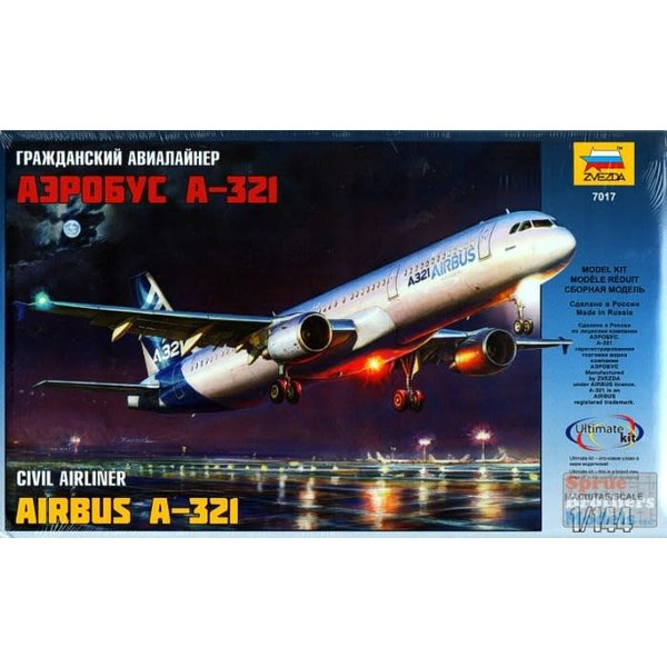 Zvesda A321 AIRBUS HOUSE C/S 1:144 SCALE KIT