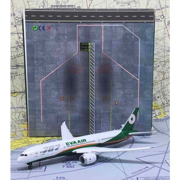 JC Wings B787-9 Dreamliner EVA Air 787 Large Titles 1:400 Flaps Down