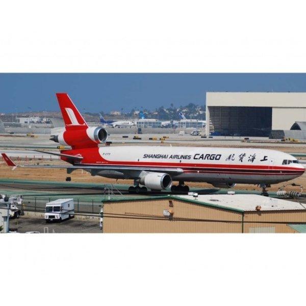 JC Wings MD11F Shanghai Air Cargo B-2179 1:400 with antennae
