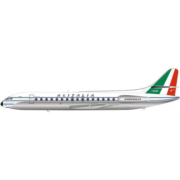InFlight Sud SE210 Caravelle Alitalia VI-N I-DABZ 1:200 polished with stand