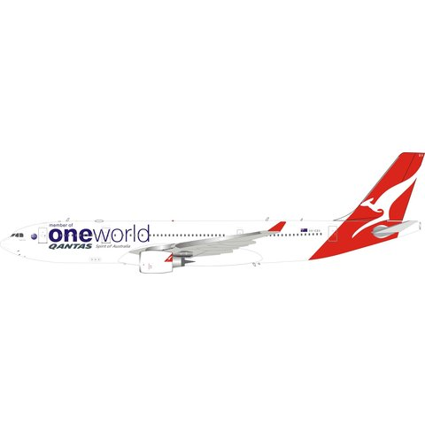 Airbus A330-200 QANTAS oneworld Livery VH-EBV 1:200 With Stand