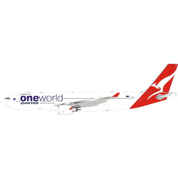 InFlight Airbus A330-200 QANTAS oneworld Livery VH-EBV 1:200 With Stand