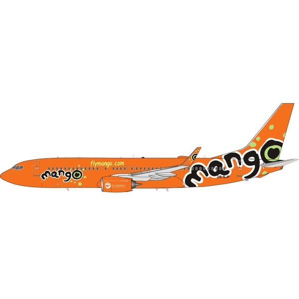 InFlight Boeing B737-800W Mango ZS-SJP 1:200 With Stand