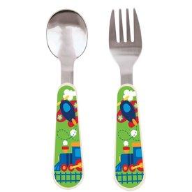 Airplane Spoon & Fork Set