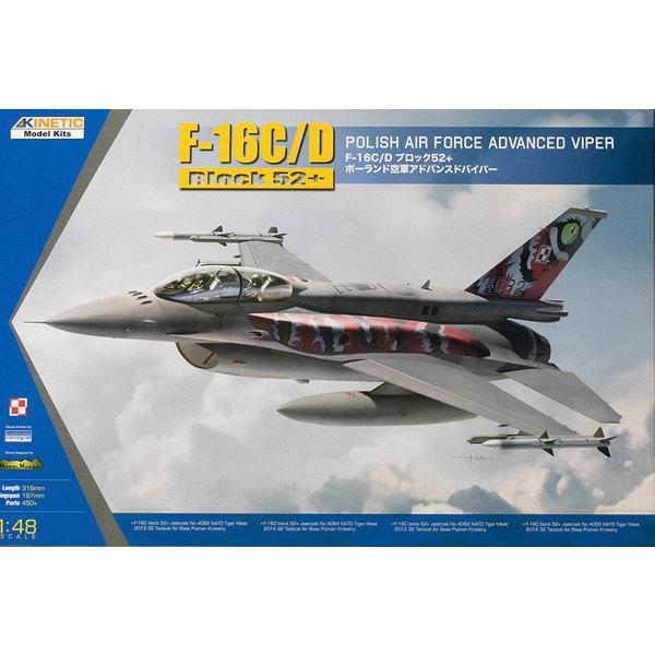 KINETIC F16C/D Polish AF Tiger Meet 2013/14 1:48 Scale Kit