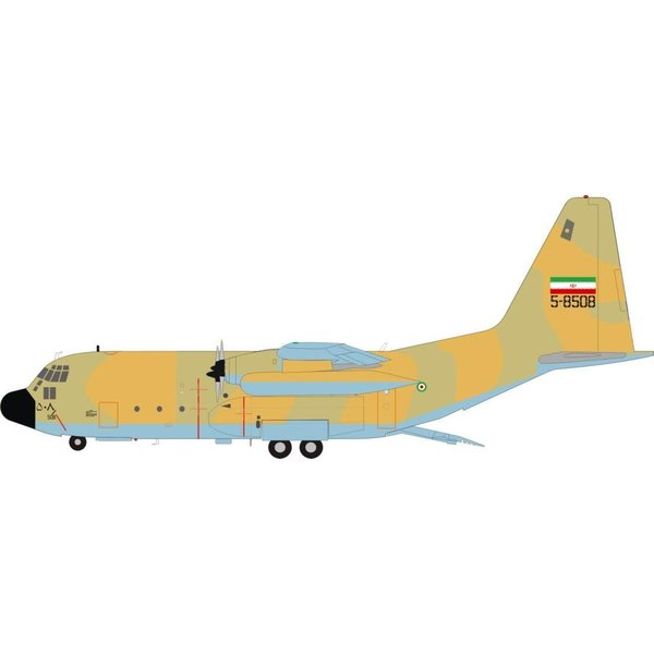 JFOX C130E Hercules Islamic Republic of Iran Air Force IAF 5-8508 1:200 With Stand