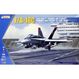 KINETIC F18C Swiss,Finnish,USN & Topgun 1:48