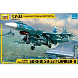 Zvesda SU33 FLANKER D RUSSIAN NAVAL 1:72 scale kit