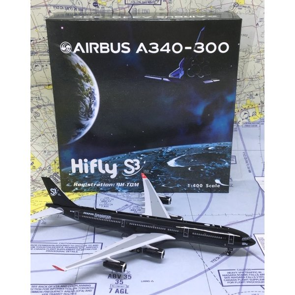 Phoenix A340-300 Hifly Malta S3 Swiss Space Systems 9H-TQM 1:400