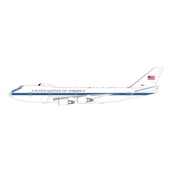 Gemini Jets Boeing E4B US Air Force 73-1676 1:400 with lots of antennae