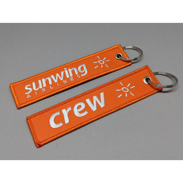 avworld.ca Key Chain Sunwing CREW Embroidered