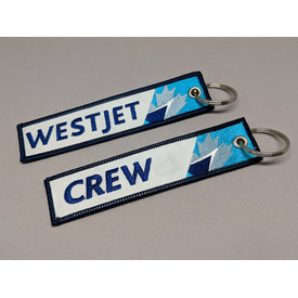 avworld.ca Key Chain Westjet New Livery 2018 CREW Embroidered