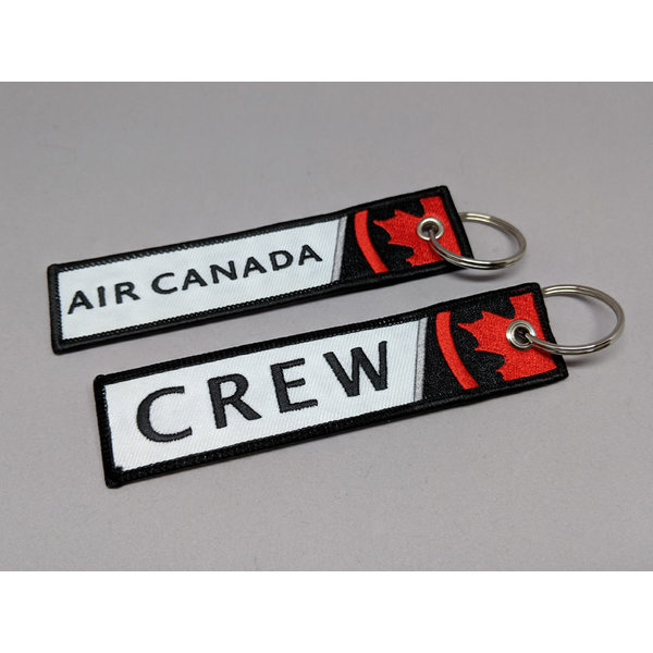 avworld.ca Key Chain Air Canada 2017 Livery CREW Embroidered