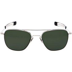 Randolph Engineering Aviator 23k White Gold AGX Polarized AR 55 Sunglasses
