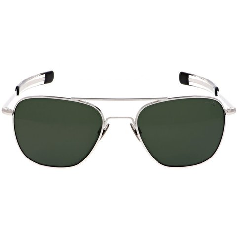 Aviator 23k White Gold AGX Polarized AR 55 Sunglasses