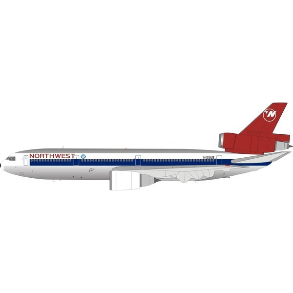 JFOX DC10-40 Northwest Airlines (Orient Livery) N155US 1:200 with Stand