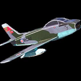 OSBORN MODELS BALSA SABRE MODEL RCAF 1:100 SCALE