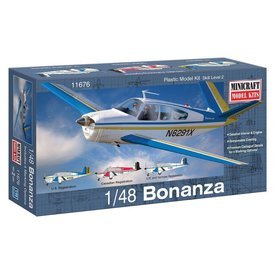Minicraft Model Kits BEECH BONANZA [V-Tail] 1:48 Scale Kit