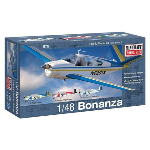 BEECH BONANZA [V-Tail] 1:48 Scale Kit