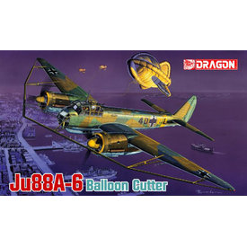 Dragon JU88A6 W/BALLOON CUTTER 1:48 SCALE KIT