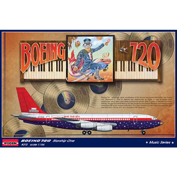 Roden Boeing B720 Starship One Elton John 1975 1:144 scale kit