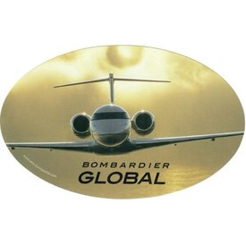 """Bombardier Bombardier Global Head-On Oval 6"""" x 3 3/4"""" Sticker"""