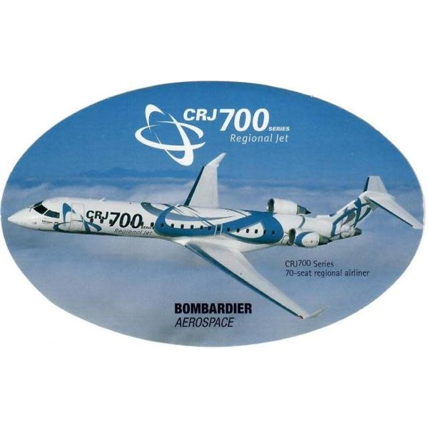 Bombardier CRJ700 Series Side Bank Sticker
