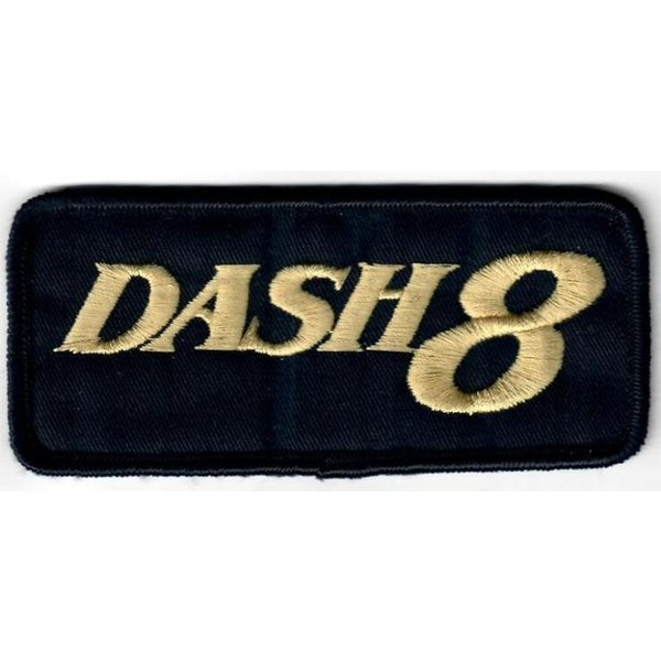 Bombardier Patch dash8 Gold on Black