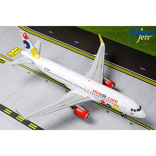 Gemini Jets A320S vivaair.com HK-5286 1:200 with stand
