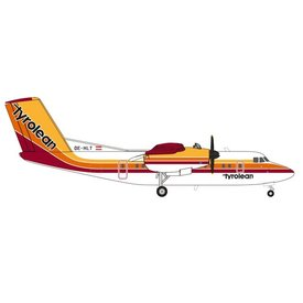 Herpa dash7 Tyrolean original livery OE-HLT 1:200 with stand