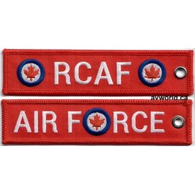 avworld.ca KEY CHAIN RCAF RED EMBROIDERED
