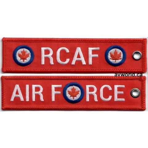 KEY CHAIN RCAF RED EMBROIDERED